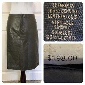 NWT! Banana Republic leather skirt